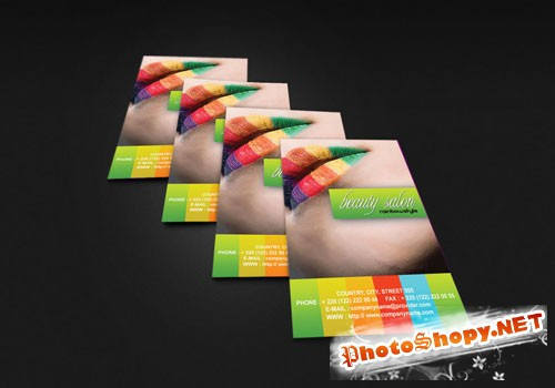 Fashion Business Card PSD Template