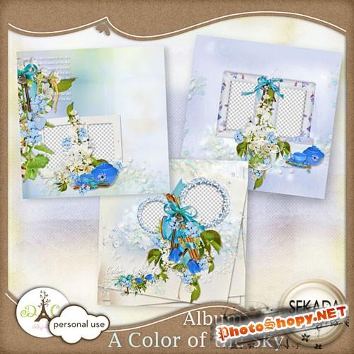 Весенний скрап-набор - Небесный цвет