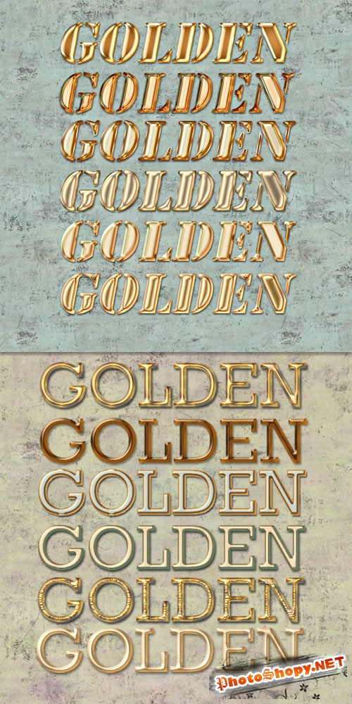 12 Golden Photoshop Styles