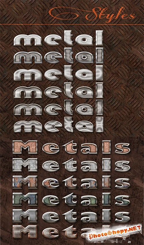 Metals Photoshop Brushes