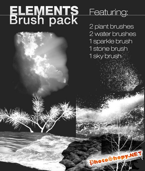 Nature Elements Photoshop Brushes