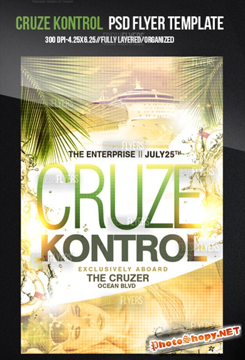 Cruze Kontrol Party Flyer/Poster PSD Template