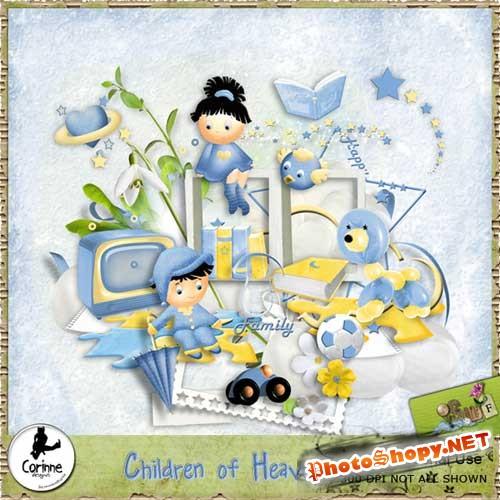 Детский скрап-набор - Небесные дети