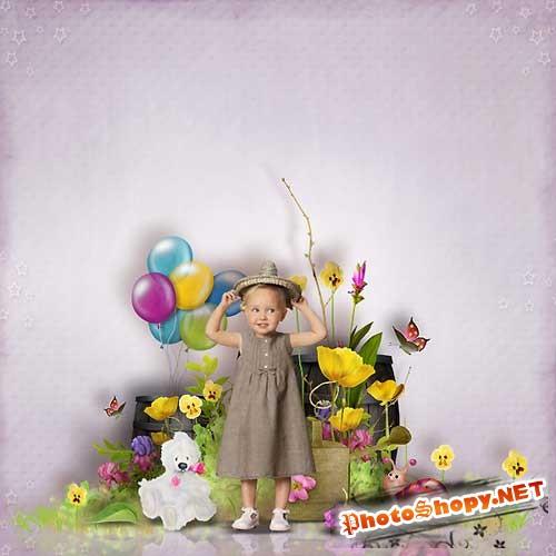 Детский скрап-набор - Цветной мир