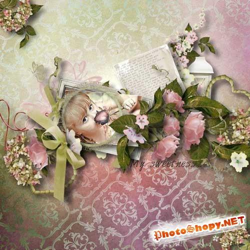 Цветочный скрап-набор - Восторг