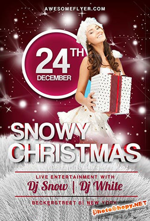 Christmas Party Flyer/Poster PSD Template