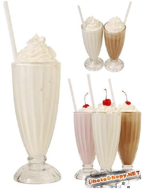 Напитки: молочные коктейли (фотосток)