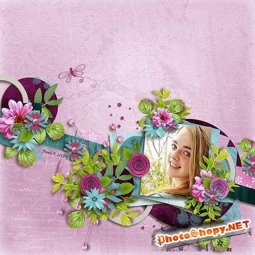 Цветочный набор для скрапбукинга - Легкое прикосновение