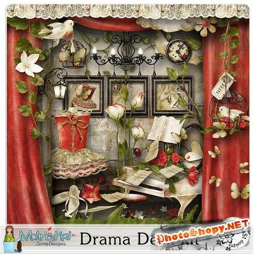 Винтажный набор для скрапбукинга - Drama Desk