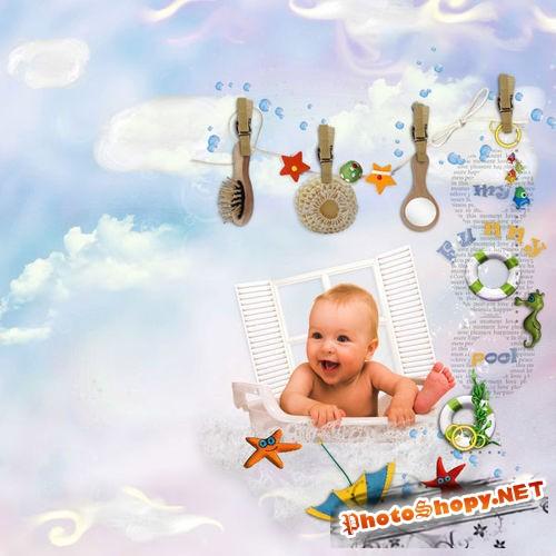 Детский набор для скрапбукинга - Забавный водоём