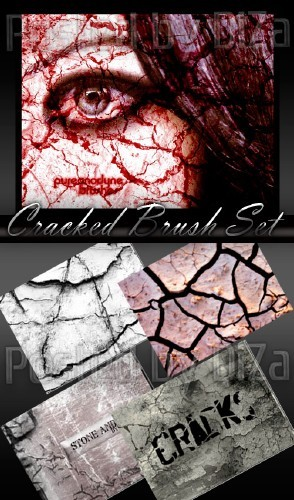 Кисти для Photoshop - Ужасные трещины, раны, царапины