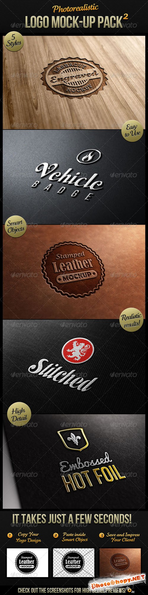 GraphicRiver - Photorealistic Logo Mock-Up Pack 2 - 1984512