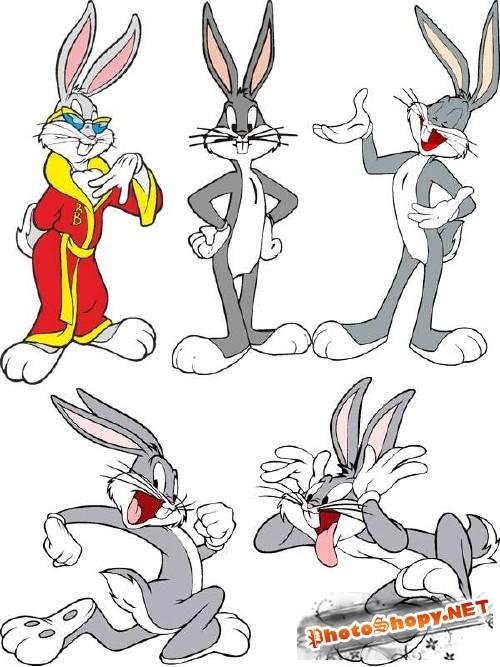 Кролик Бакс Бани (Baks Bani) - векторный клипарт