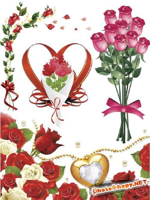 Фотосток: рисованные розы (часть третья)