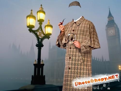Шаблон для фотошопа  - Шерлок Хомс
