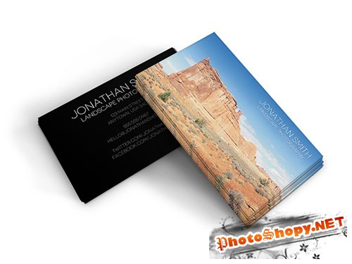 Landscape Photography Business Card PSD Template