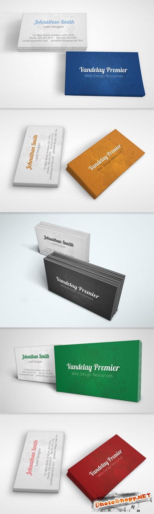 Subtle Splatter Business Card PSD Template