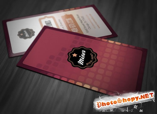 Stylish Vertical Business Card PSD Template