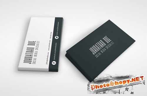 Social Media Business Card PSD Template