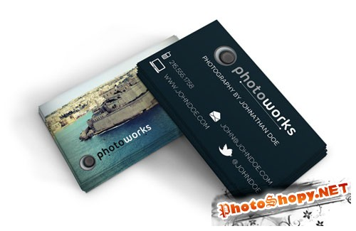 Photographer's Business Card PSD Template