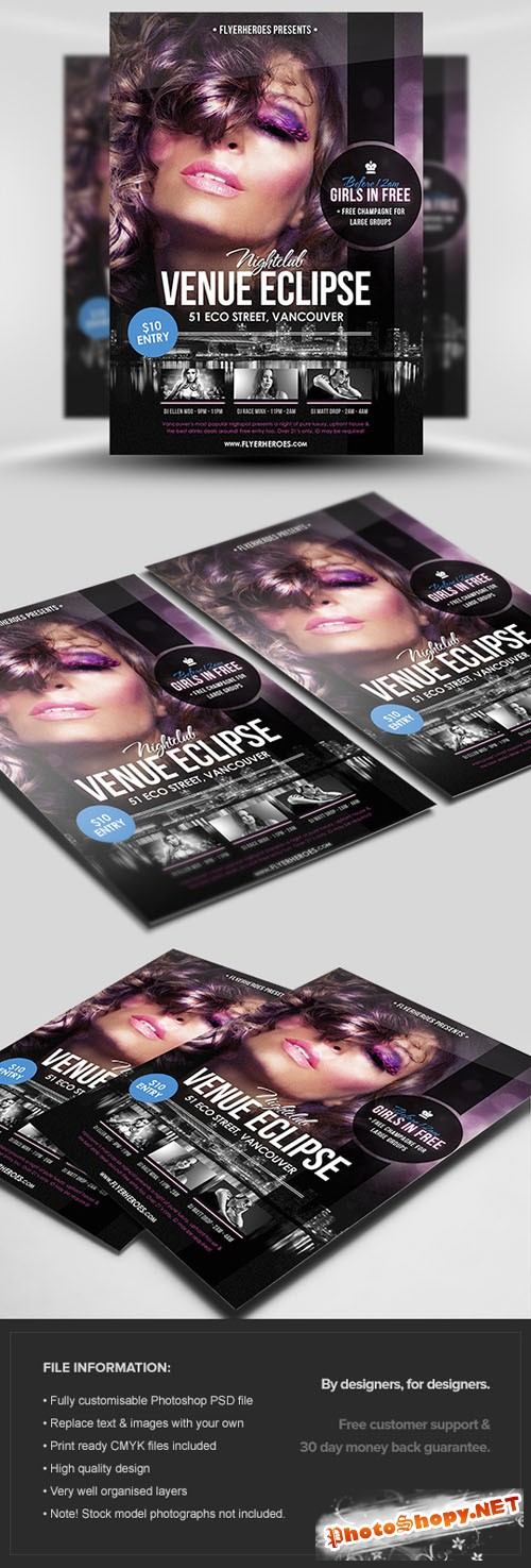 Venue Eclipse Flyer/Poster PSD Template