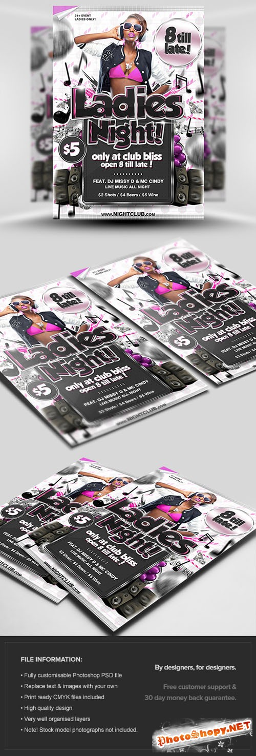 Ladies Night Flyer/Poster PSD Template