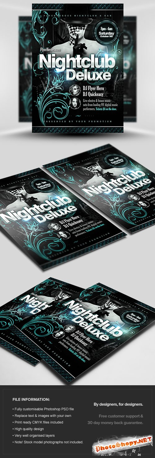 Nightclub Deluxe Flyer/Poster PSD Template
