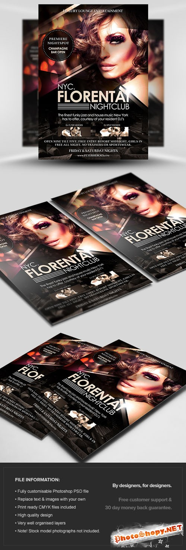 Florentai Flyer/Poster PSD Template