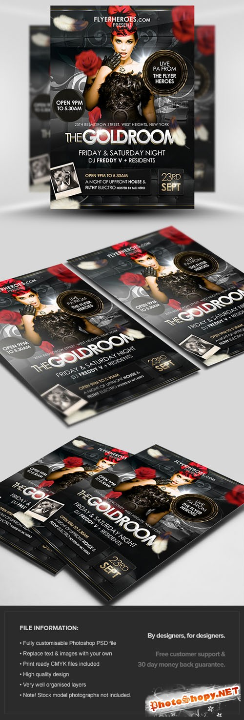 The Goldroom Flyer/Poster PSD Template