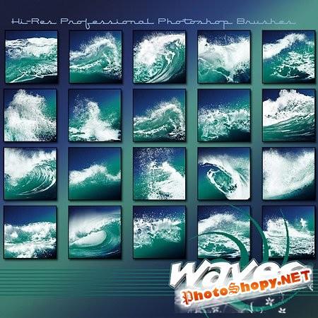 Кисти для Photoshop - Стильные волны