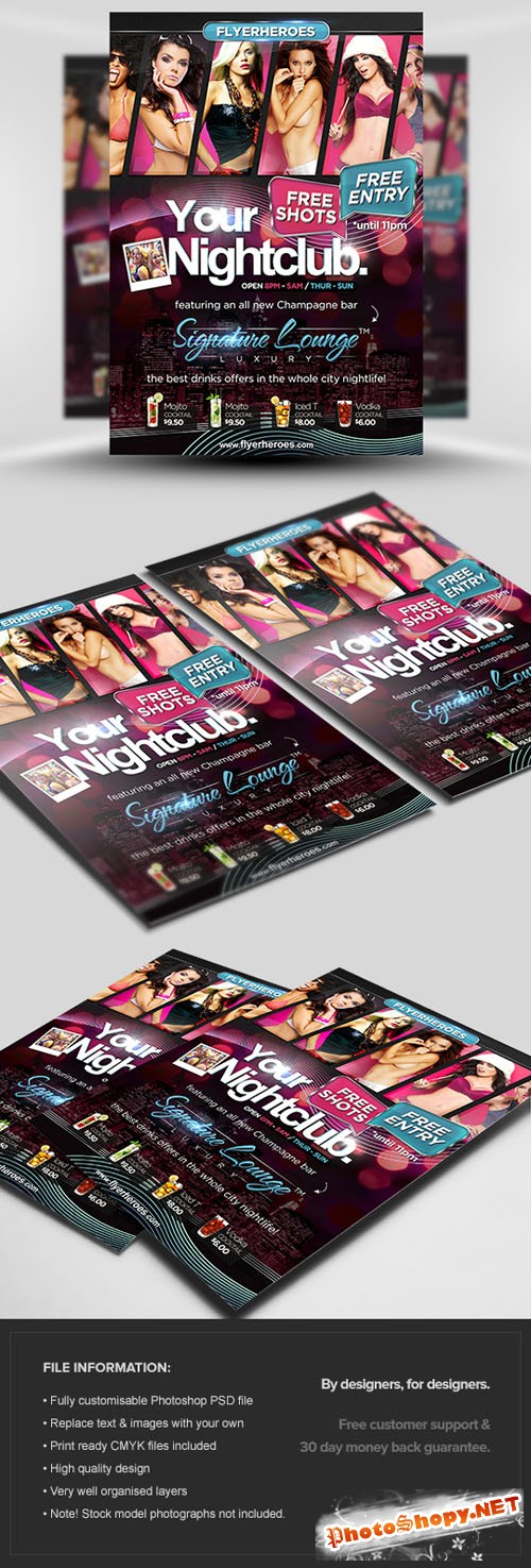 Signature Flyer/Poster PSD Template