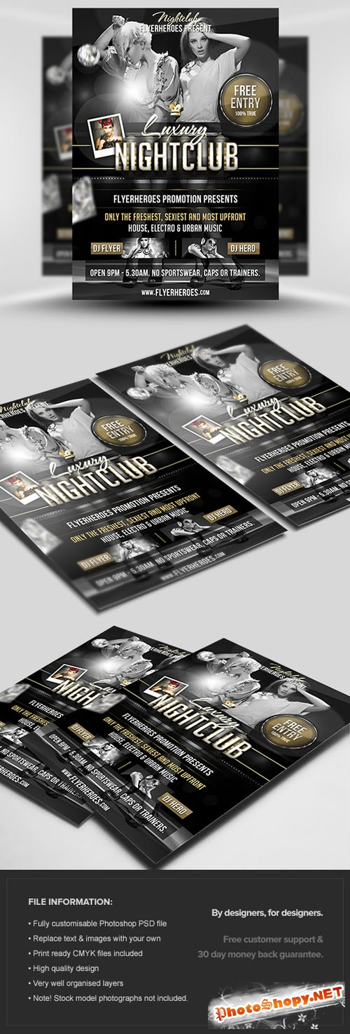 Luxury Nightclub Flyer/Poster PSD Template