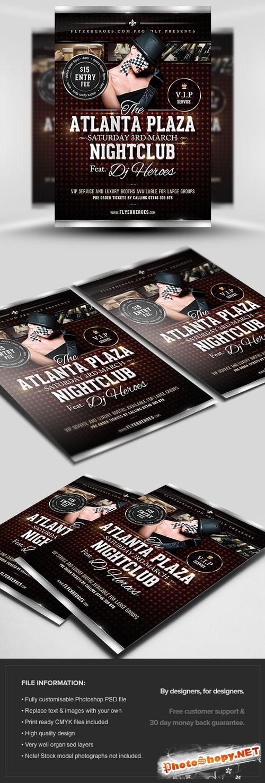 Atlanta Plaza Flyer/Poster PSD Template