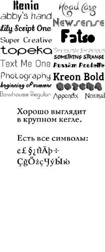 Сборник шрифтов ( часть 7 ) / Collection of fonts ( Part 7 )