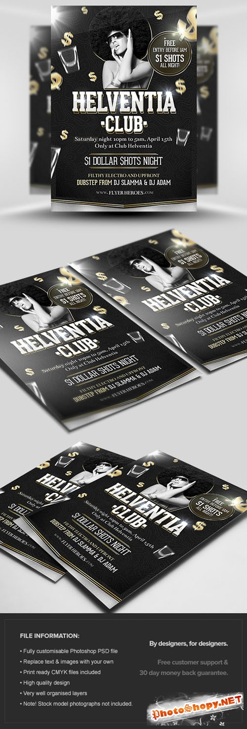 Helventia Party Flyer/Poster PSD Template