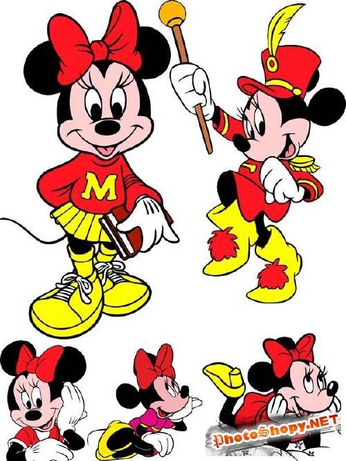 Минни Маус (подружка Микки Мауса) - векторный сток