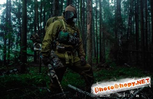 Шаблон для фотошопа  - Снайпер на задании