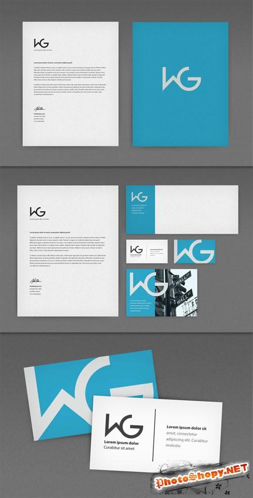 WeGraphics - Identity Kit Photoshop Mockup Set