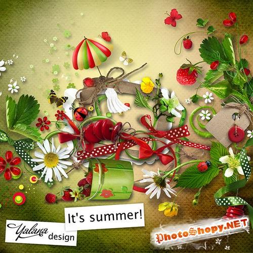 Яркий летний набор для скрапбукинга - Это лето