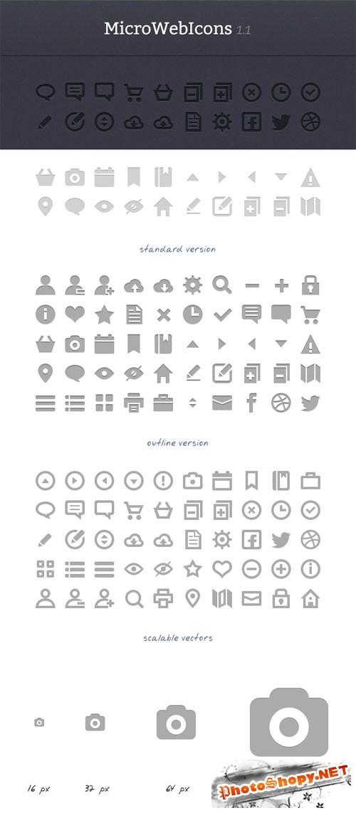 WeGraphics - MicroWebIcons 1.2 - Retina Ready