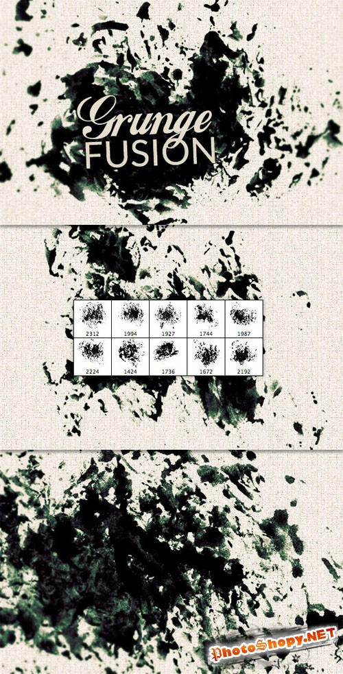 WeGraphics - Grunge Fusion Photoshop Brush Set