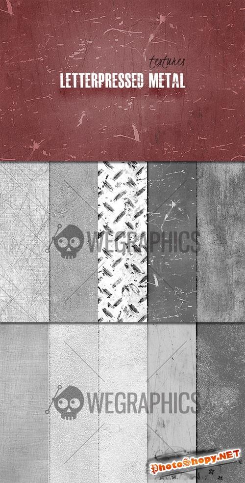 WeGraphics - Seamless Letterpress Metal Textures