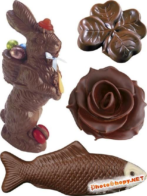 Шоколадные фигурки - фотосток