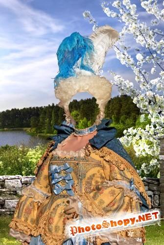Старинный костюм 72 - фотошаблон фотошоп