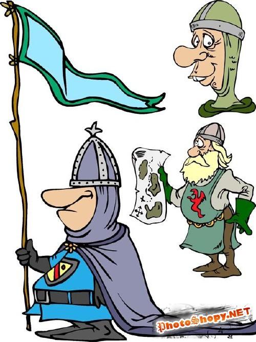 Средневековые рыцари - векторный сток