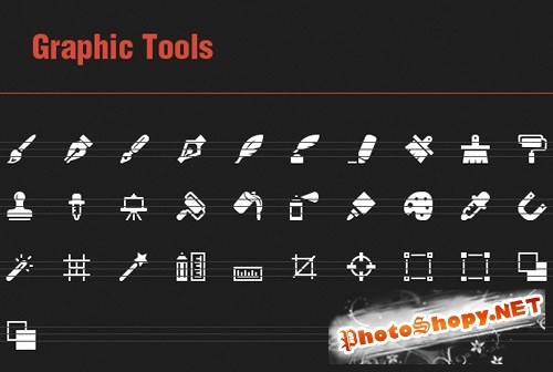 31 Vector Icons with Graphic Tools
