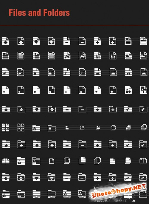100 Files and Folders Vector Icons