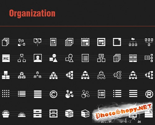 50 Organization Vector Icons
