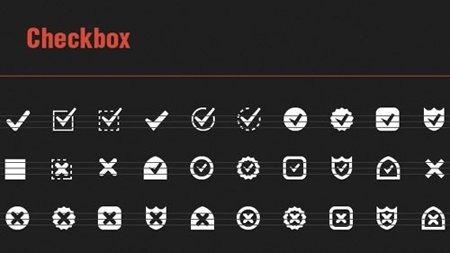 30 Vector Checkbox Icons