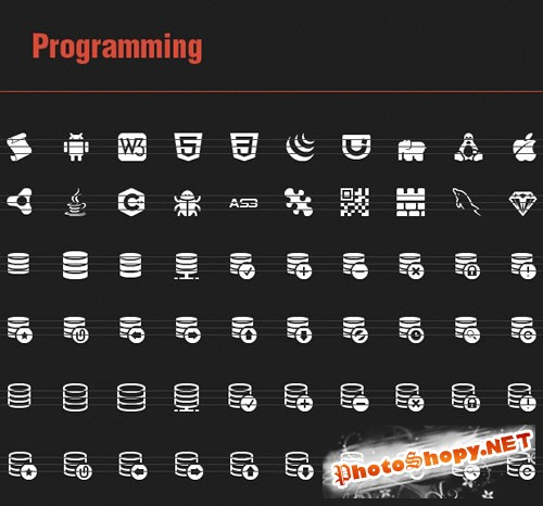 60 Vector Programming Icons